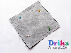 Porta lenços de papel bem práticos feitos com tecido