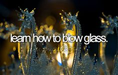 there is a few places in Wisconsin where you can take glass blowing classes-anyone want to come with me?
