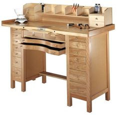 Jeweler's 16-Drawer Workbench | I would love to have this in our studio. :-) ($1295)