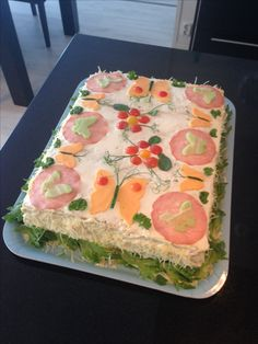 Voileipäkakku Cake, Desserts, Food, Tailgate Desserts, Deserts, Kuchen, Essen, Postres, Meals
