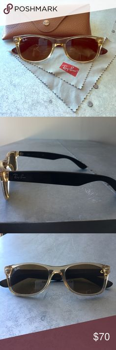 Ray-Ban Ney Wayfarer 2 tone New Wayfarers that will match any style.  Timeless, classic & cool. Ray-Ban Accessories Sunglasses