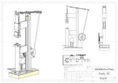 Power Hammer Plans Homemade power hammer project including detailed plans.
