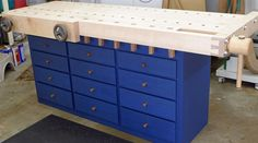 Shaker workbench, Roubo workbench, Wagon Vise, Lake Erie Toolworks