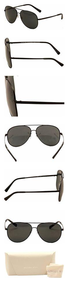 fee5ed2b9620 $77.66 - Michael Kors Men's Aviator Sunglasses Black Grey Solid #michaelkors