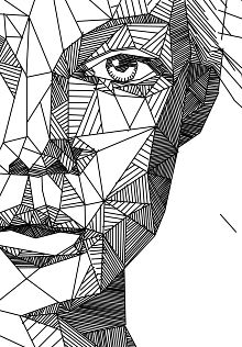 sweet-Drawing-Aspekt-Drawnen von Linien-of-Geometrie-Formen-geometrische - Drawing Sketching Painting Doodle Art Drawing, Pencil Art Drawings, Art Drawings Sketches, Line Drawing Art, Line Drawings, Drawing Faces, Drawing Portraits, Design Art Drawing, Best Drawing