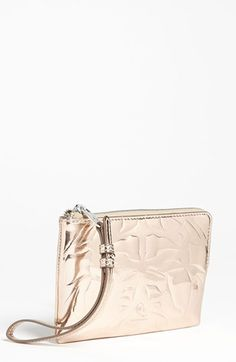 McQ by Alexander McQueen Embossed Metallic Passport Wallet available at #Nordstrom