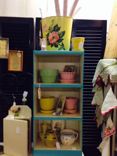 New items in Salvage sisters Franklin,IN booth 18.