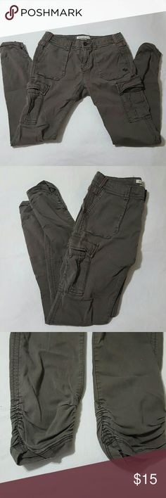 Cargo Pants Really comfy and cute pair of cargos, if my butt still fit in these I would wear them all of the time. Size 0, but can fit a 2/4. They are baggy but come together at the ankle which is why I love them so much Abercrombie & Fitch Pants