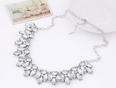 Gorgeous Crystal Necklace in Silver and Gold
