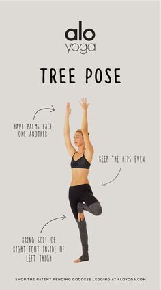 Keep your mind & body balanced in Tree Pose! These helpful tips will keep you feeling grounded! #aloyoga #beagoddess
