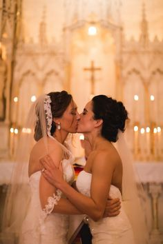 For Real Same Sex Weddings: Michaela & Raffinee Cute Lesbian Couples, Lesbian Love, Happy Couples, Lesbian Pride, I Kissed A Girl, Love Quotes Photos, Two Brides, Lesbians Kissing, Lesbian Wedding