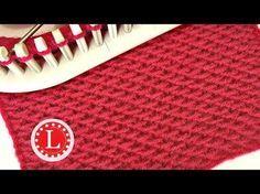 LOOM KNITTING Stitches Chinese Wave aka Knit Loop | Slip Stitch Honeycomb | Loomahat - YouTube