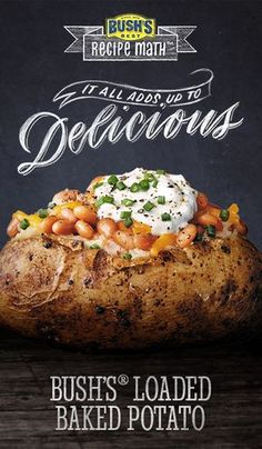 Bush's® Loaded Baked Potato: Turn a simple baked potato into a simply satisfying meal by topping it with Bush's® Homestyle Baked Beans, Cheddar cheese and a bit of sour cream.