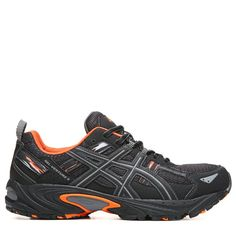 ASICS Men's Gel-Venture 5 X-Wide Trail Running Shoes (Grey/Black/Orange) - 10.5 4E