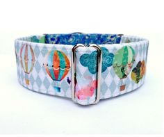 Balloon Collage Dog Collar by TheEclecticHound
