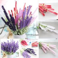 Home Decoration 12 Heads Lavender Bouquet Wedding Silk Flowers High Simulation I