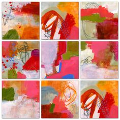 """I started these improvisational pieces while teaching at AVA the other week. Here are four that I consider finished; each 10""""x10"""":    Color..."""