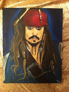I want this painting of captain jack sparrow. so awesome.