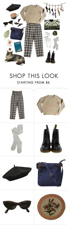 """French Mornings"" by ella-felsing ❤ liked on Polyvore featuring Acne Studios, Dr. Martens, M&Co, Fat Face, Ray-Ban, Rick Owens Lilies, Andrea Garland and CoffeeDate"