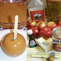 Grandma Betty's Caramel Apples – A family favorite for over 50 years. Once you try this, you will never go back to unwrapping and melting all those commercial caramels to dunk apples in!