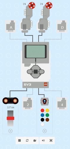 simulator with motors and sensors Lego Wedo, Lego Mindstorms, Lego Projects, Projects For Kids, Backyard Projects, Vex Robotics, Robotics Club, Technique Lego, Exercises
