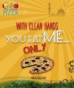 Eat the Pizza ONLY #14thStreetPizza #IEatClean   111-36-36-36 or visit http://www.14thstreetpizza.com/