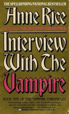 A classic vampire novel. This book was the first Anne Rice novel I read so I ended up liking Louis more than Lestat. I grew to like Lestat later but I'll always have a soft spot for Louis.