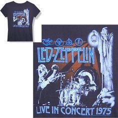 LED ZEPPELIN LIVE IN CONCERT 1975 BABYDOLL SHIRT XL NEW