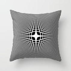 White On Black Convex Throw Pillow by Moonshine Paradise #society6 #blackandwhite #convex #opticalillusion #throwpillow