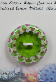 Glass Lampwork Button Handmade in UK SRA ~ Helen Gorick