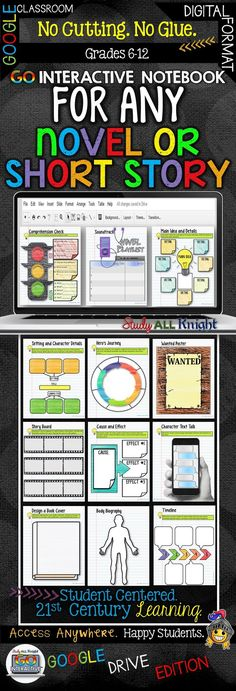 GO Interactive Notebook For Any Novel or Short Story Google Edition ($)
