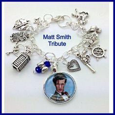 Dr Who Matt Smith Tribute Bracelet Charm by Uberjewelrydesigns, $26.99  Uberjewelrydesigns.com