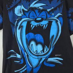 Tasmanian Devil Taz T-Shirt Unisex L Short Sleeve Black Tee Signal Artwear USA #SignalArtwear #ShortSleeve