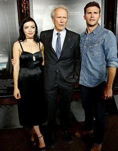 Clint Eastwood with two of his children Clint And Scott Eastwood, Actor Clint Eastwood, Clint Eastwoods Son, Clint Walker, Old Movie Posters, The Expendables, Celebrity Kids, Famous Stars, Classic Actresses