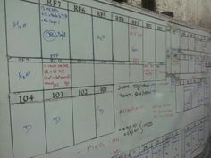 #HarewoodEstate white board keeps a record of all wine batches(#RNAWA13)