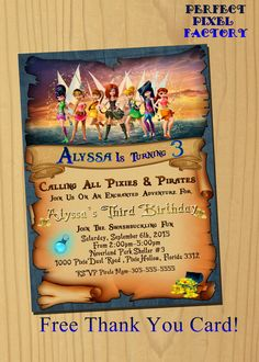 TINKERBELL INVITATION.Tinkerbell Birthday by PerfectPixelFactory