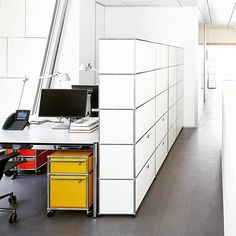 Louis Vuitton Foundation, Paris, France USM pure white storage units elegantly fit into the office space without closing it off and individual work areas are furnished in a range of colours. @fondationlv @louisvuittonparis @louisvuitton #louisvuitton #louisvuittonlover #LouisVuittonFoundation  #bernardarnault @lvmh #lvmh @frankgehry #frankgehry #frankgehryarchitecture #frankgehrybuilding #interior #interiordesign #furnituredesign #designinterior #designlovers