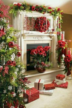 Christmastime mantle