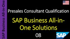SAP - Course Free Online: 08 - SAP Business All-in-One Solutions
