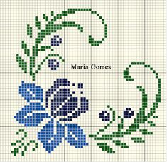 Maria Gomes: Meine Kreuzstichvorlagen - picture for you Cross Stitch Borders, Cross Stitch Alphabet, Cross Stitch Flowers, Cross Stitch Charts, Cross Stitch Designs, Cross Stitching, Cross Stitch Patterns, Free To Use Images, Tapestry Crochet