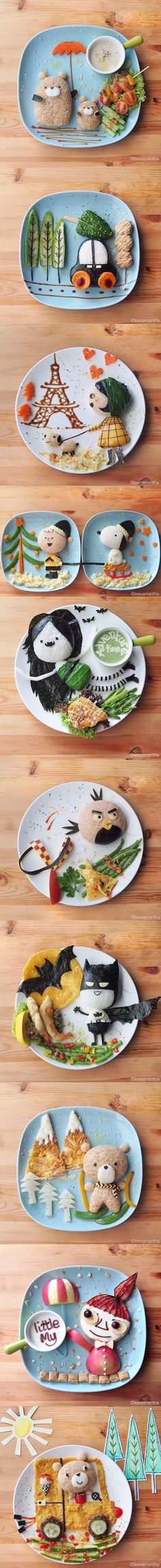 Still Cracking » Its Your Time To Laugh!Amazing Food Art By Samantha Lee - Still Cracking