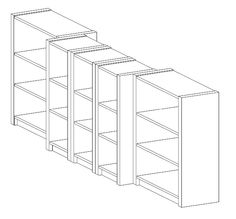 bookcase tutorial (entertainment center)  - ikea billy bookcases