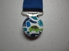 Turtle and Elephant Pacifier Clip - Baby Boy - Alexander Henry 2d Zoo Teeny Tiny Zoo - Navy Blue Paci Clip - May Be Personalized for Additional Fee - Safari Animals - Great Baby Shower Gift!  $5.25
