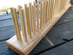 36 Inch Peg Loom, Three Rows, Handmade in USA, Solid Hardwood, Beginner Weaving Loom, Viking Weaving, Old World Weaving Loom by PhoenixFarmFiber on Etsy