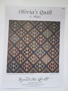 Olivia's Quilt-c. 1840- Quilt pattern by Reproduction Quilts by QuiltiliciousFabric on Etsy