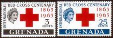 Grenada 1963 Red Cross Centenary Set Fine Mint SG 212 3 Scott 191 2 Other Grenada Stamps HERE