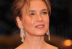 Renee Zellweger in diamond drop #earrings at the Met Ball 2012 in New York. (Getty Images)