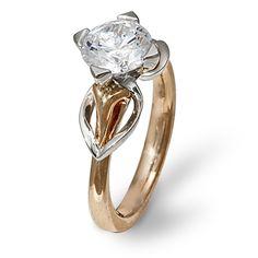 Mae Vona Eriskay- 18 Karat rose gold and platinum engagement ring. Available at 14 Karat Omaha