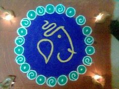 Simple #Ganesh #Rangoli