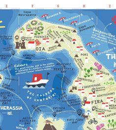 8 Best A Smart Map of Santorini images